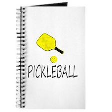Pickleball slogan yellow ball paddle Journal