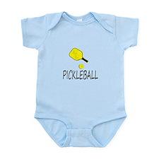 Pickleball slogan yellow ball paddle Body Suit