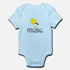 Pickleball slogan yellow ball paddle Body Suit