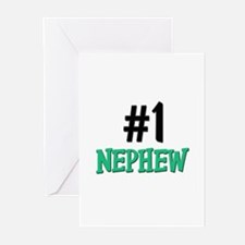 Number 1 NEPHEW Greeting Cards (Pk of 10)