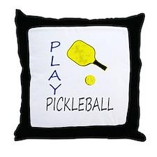 Play pickleball Throw Pillow