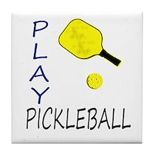 Play pickleball Tile Coaster
