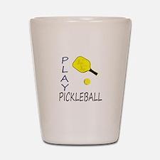 Play pickleball Shot Glass