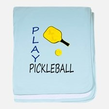 Play pickleball baby blanket