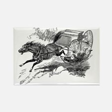 Vintage Horse Wagon Cart Illustration - 1800s Hors