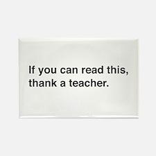 Read this thank a teacher Magnets