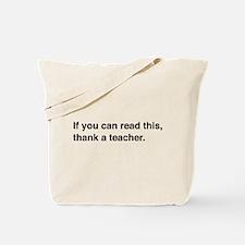 Read this thank a teacher Tote Bag