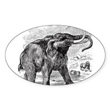 Vintage 1800s Extinct Woolly Mammoth Illustration