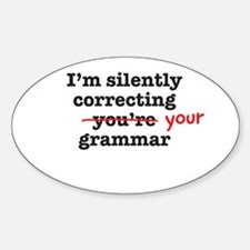 Silently correcting grammar Decal
