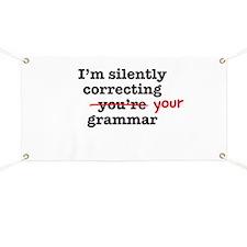 Silently correcting grammar Banner