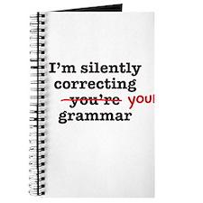 Silently correcting grammar Journal