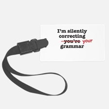 Silently correcting grammar Luggage Tag