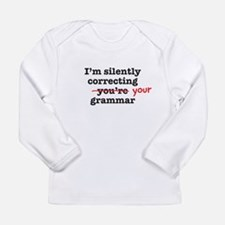 Silently correcting grammar Long Sleeve T-Shirt