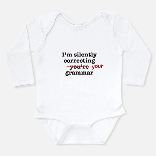 Silently correcting grammar Body Suit