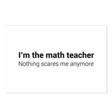 Math teacher nothing scares Postcards (Package of