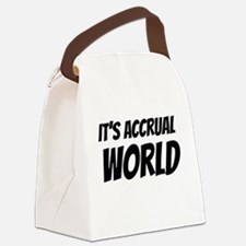 It's accrual world Canvas Lunch Bag