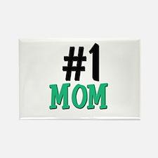 Number 1 MOM Rectangle Magnet