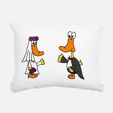 Ducks Wedding Rectangular Canvas Pillow
