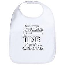 Hammer time carpenter Bib