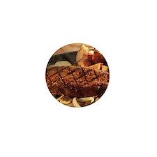Steak Mini Button