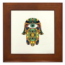 Funny Hamsa Framed Tile