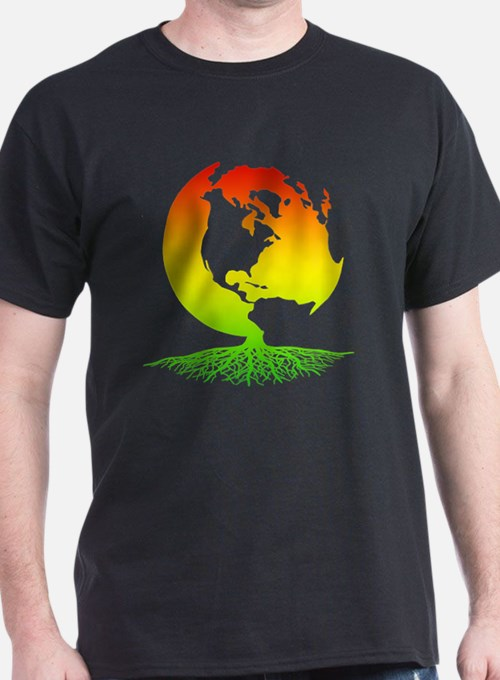 Mother Earth with Roots (surfer rasta T-Shirt