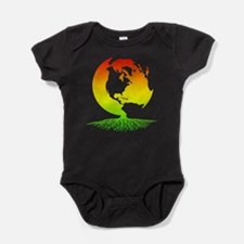 Mother Earth with Roots (surfer rast Baby Bodysuit