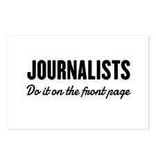 Journalists do it front page Postcards (Package of