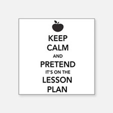 keep calm pretend lesson plan Sticker
