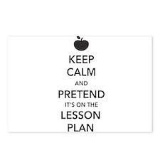 keep calm pretend lesson plan Postcards (Package o