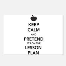 keep calm pretend lesson plan Postcards (Package o