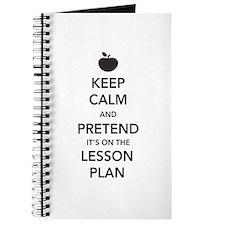 keep calm pretend lesson plan Journal