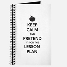 keep calm pretend lesson plan Journal