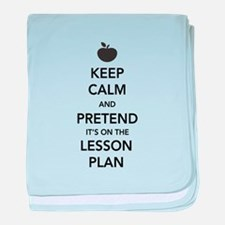 keep calm pretend lesson plan baby blanket