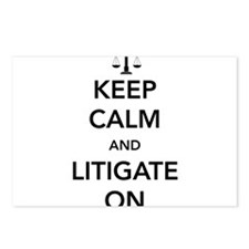 Keep calm and litigate on Postcards (Package of 8)