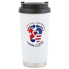 Cuban American Baby Travel Mug
