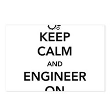 Keep calm and engineer on Postcards (Package of 8)