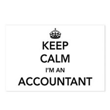 Keep calm i'm an accountant Postcards (Package of