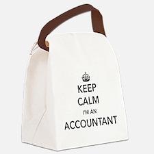 Keep calm i'm an accountant Canvas Lunch Bag