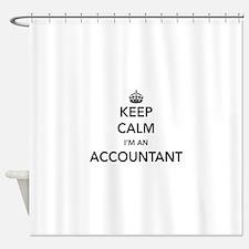 Keep calm i'm an accountant Shower Curtain