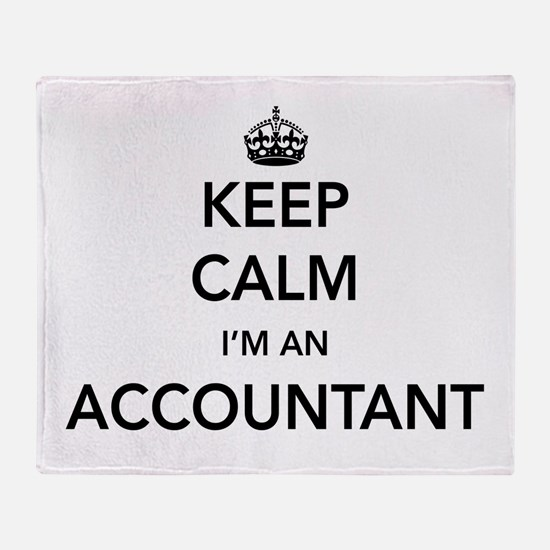 Keep calm i'm an accountant Throw Blanket