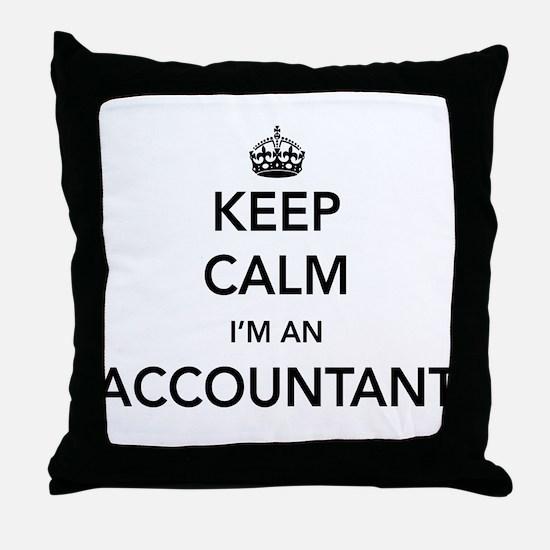 Keep calm i'm an accountant Throw Pillow