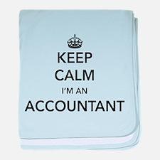 Keep calm i'm an accountant baby blanket