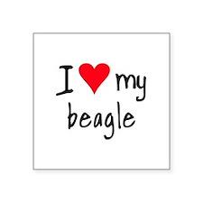 iheartbeagle Sticker