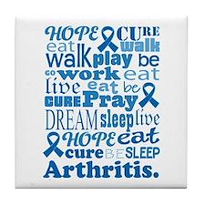 Live Hope Cure Arthritis Tile Coaster