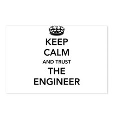 Keep calm trust the engineer Postcards (Package of