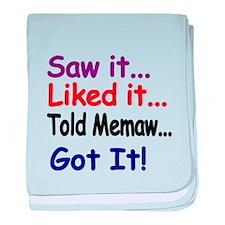 Saw it...Liked it...Told Memaw...Got It! baby blan