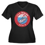 USS OKINAWA Women's Plus Size V-Neck Dark T-Shirt