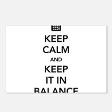 Keep calm keep it in balance Postcards (Package of