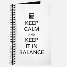 Keep calm keep it in balance Journal